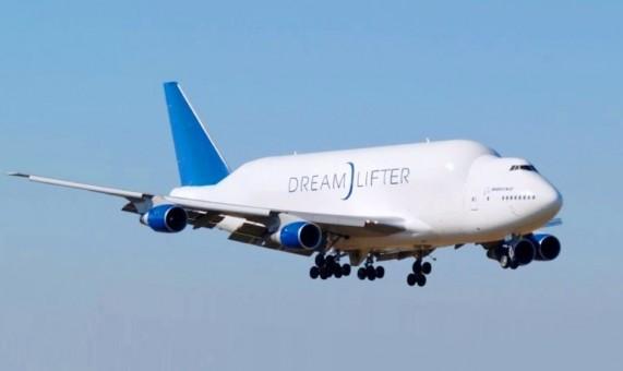 Flaps down Dreamlifter Boeing 747-400(LCF) N747BC JC Wings LH4BOE174A die-cast scale 1:400