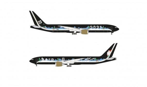 Herpa Christmas Boeing 777-8 777X 2021 Herpa 535540 scale 1:500