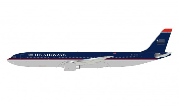 US Airways Airbus A330-323 N678US navy blue livery with stand InFlight IF333US0719 scale 1:200