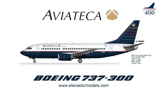 Aviateca Guatemala Boeing 737-300 TG-AMA El Aviador EAV400-AMA scale 1:400