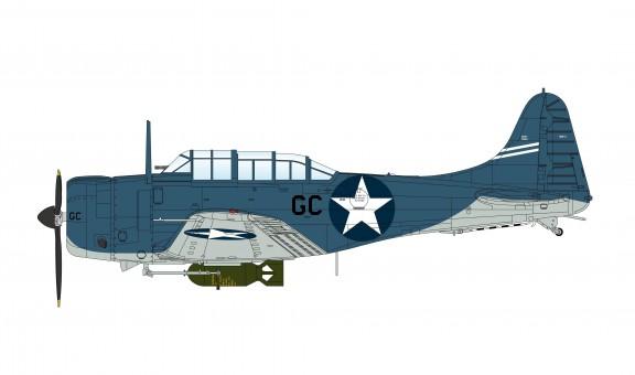 SBD-3 Dauntless VB-6 Lt. Richard Best USS Enterprise Battle of Midway HA0174 Hobby Master Scale 1:72