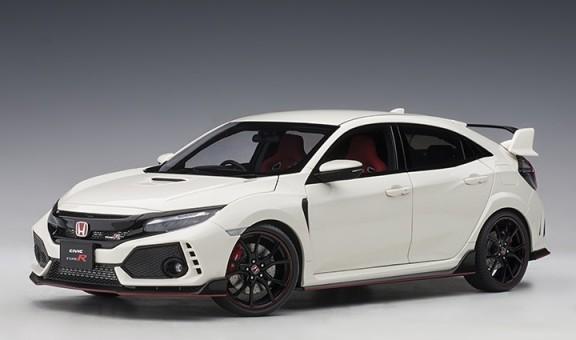 White Honda Civic Type R (FK8) Championship white color AUTOart 73266 Scale 1:18