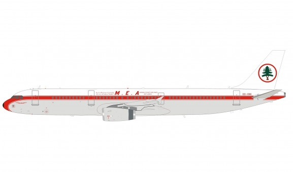 MEA Middle Eastern Airbus A321 70th Anniversary OD-RMI stand InFlight IF321ME0520 scale 1:200