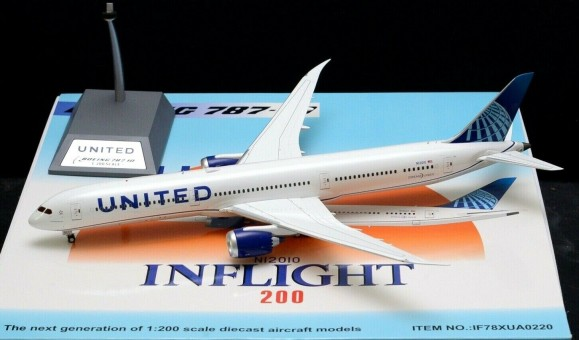United Airlines Boeing 787-10 Dreamliner N12010 With Stand Inflight IF78XUA0220 scale 1:200