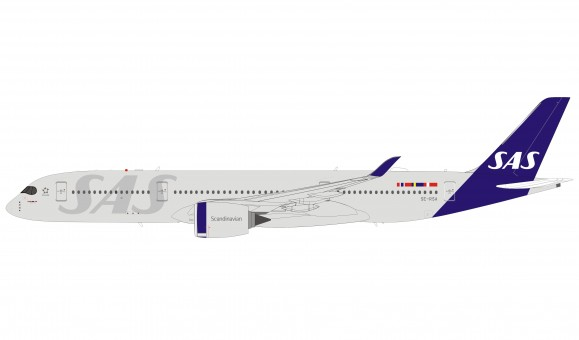 SAS Scandinavian New Livery Airbus A350-900 SE-RSA with stand Inflight IF350SK1219 scale 1:200