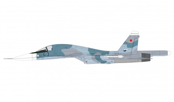 Su-34 Fullback Russian Air Force Akhoubinsk Dec 1993 Сухой Су-34 HA6304 scale 1:72