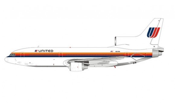 United Airlines Lockheed L-1011-500 TriStar Saul bass livery N514PANG Models 35006 scale 1400