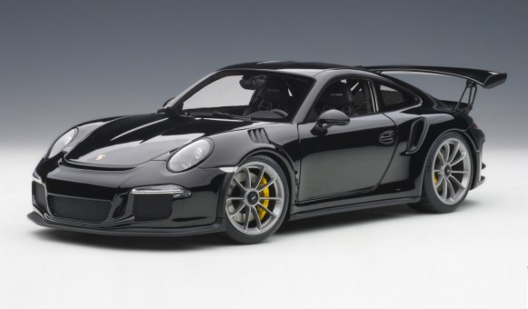 NEW! Black Porsche 991 glossy & black wheels AUTOart 78164 scale 1:18