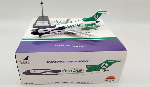 Aero Sur Boeing 727-200 CP-2498 with stand El Aviador/InFlight EAV722CP-2498 scale 1:200