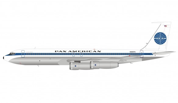 Pan Am Boeing 707-338C N880PA with stand InFlight IF703PAA1983 scale 1:200