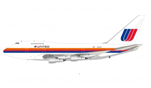 United Airlines Boeing 747SP-21 N140UA with stand InfFight IF747SPUA0920 scale 1:200