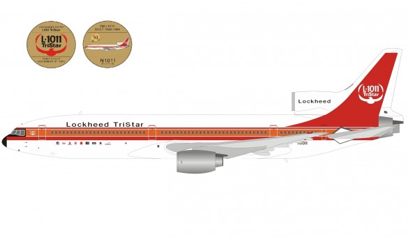 50th Anniversary House Lockheed L-1011 Tristar N1011 with coing IF-L1011-50 Inflight200 scale 1:200