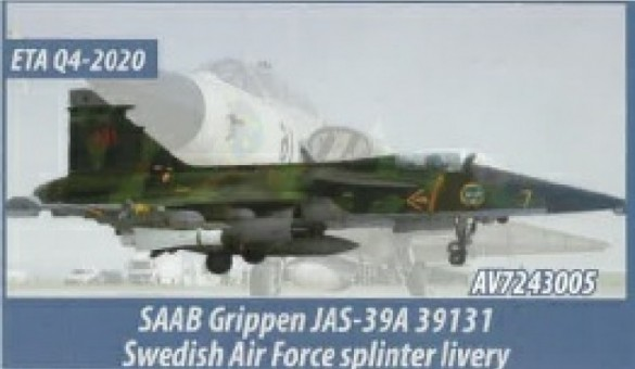 Swedish Air Force Saab JAS 39A Gripen by Aviation 72 AV72-43005 2012 scale 1:72