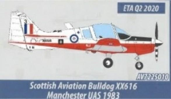 RAF Volunteer Reserves Scottish Aviation Bulldog XX616 Manchester University Air Squadron Aviation 72 AV72-25010 scale 1:72