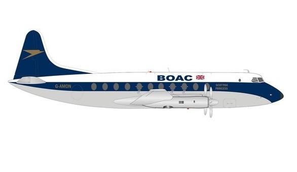 "BOAC Vickers Viscount 700 G-AMON ""Scotish Princess"" Herpa 570817 scale 1:200"
