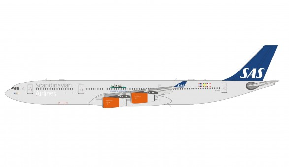SAS Scandinavian Airbus A340-300 Panda Logo LN-RKG die-cast 202009 scale 1:400