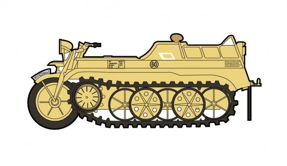 Sd.Kfz.2 Kettenkrad 20th Panzer Division Russia 1944 Hobby Master HG1704 scale 1:48