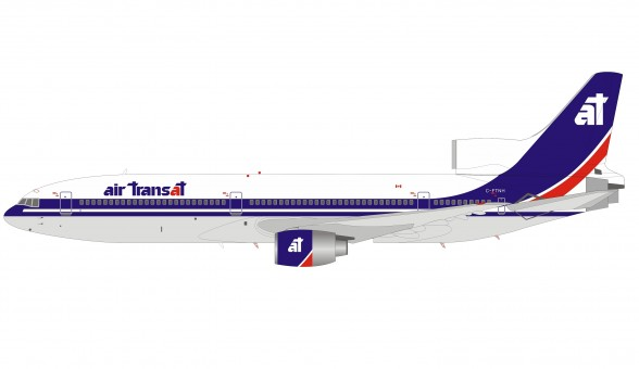 Air Transat Lockheed L-1011 Tristar C-FTNH Canada with stand IF1011TS12P Inflight200 scale 1:200