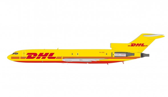 DHL Boeing 727-200 VH-DHE with stand InFlight IF722DH1219 scale 1:200
