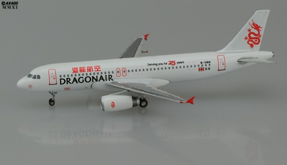 DRAGONAIR A320-200 (25TH Anniversary)     1:400 JCWings