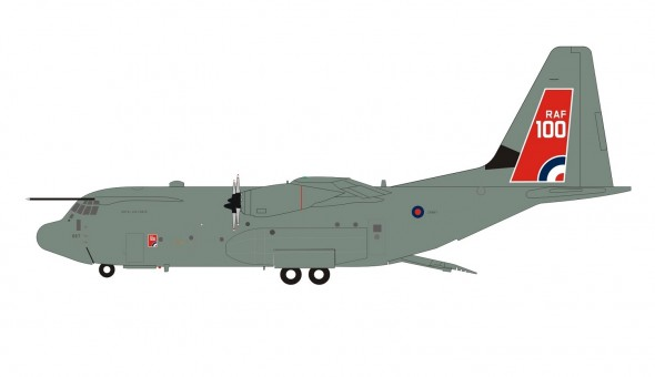 "UK - Air Force C-130J ""RAF 100"" Hercules C5 (L-382) ZH887 with stand Inflight200 IF130UK0420 scale 1:200"