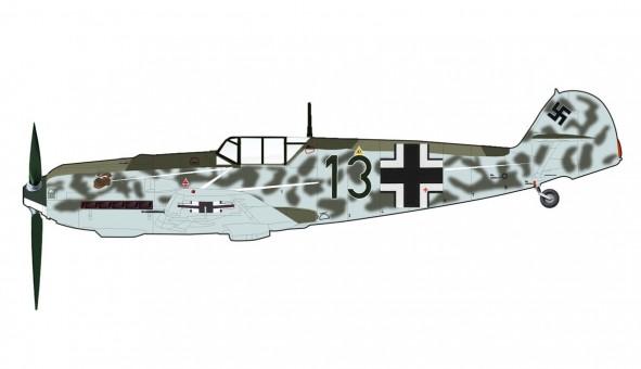 "Germany Bf109E-4  I./JG 77 ""Blitz"" France Summer 1940 WWII HA8713 Scale 1:48"