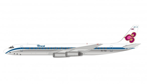 Thai Airways Douglas DC-8-62CF HS-TGZ with stand IF862TG0720 InFlight  scale 1:200