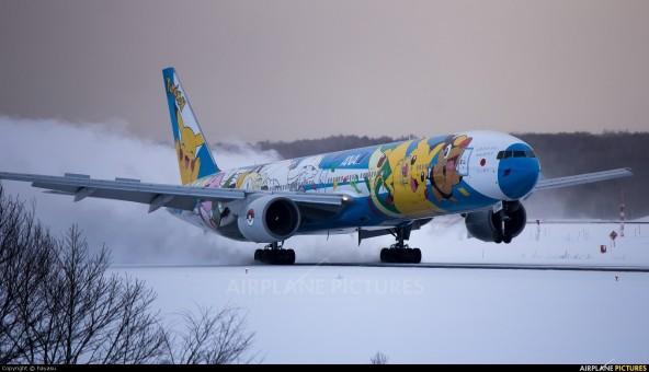 ANA Pokemon Peace Jet Boeing 777-300 JA754A All Nippon JC wings EW2773001 scale 1:200