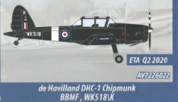 Battle of Britain Memorial Flight, RAF de Havilland Canada DHC-1 Chipmunk T.10 Aviation 72 AV72-26022 Scale 1:72