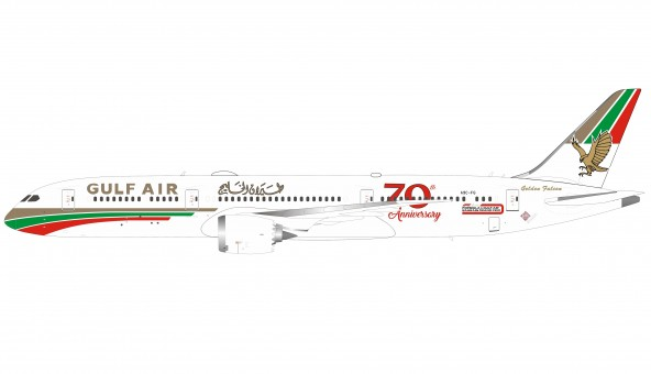 Gulf Air Boeing 787-9 A9C-FG 70th Anniversary Inflight IF789GF50 scale 1:200