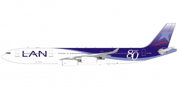 Lan Chile 80 Years Airbus A340-300 CC-CQG with stand InFlight IF343LAN002 Limited 44 units scale 1:200