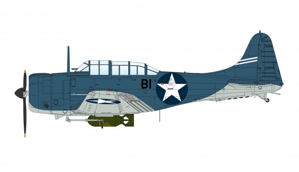 SBD-3 Dauntless VB-6 USS Enterprise, Battle of Midway HA0173 Hobby Master Scale 1:72