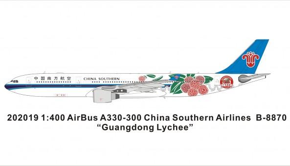 China Southern Airbus A330-200 B-8870 中国南方航空 Guangdong Lyche livery Panda model 202019 scale 1:400