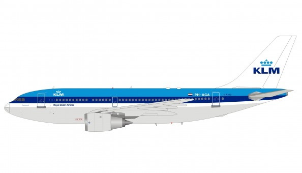 KLM Airbus A310-203 PH-AGA with stand InFlight IF310KL1218 scale 1:200