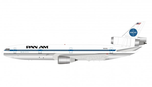 Pan Am DC-10-30 N84NA Clipper Glory of the Skies polished with stand InFlight IFDC10PA1019P scale 1:200