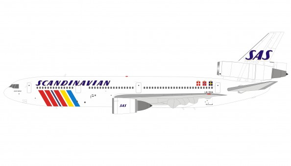 SAS Scandinavian DC-10-30 LN-RKA with stand InFlight IFDC10SK1218 scale 1:200