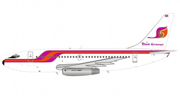 Thai Airways Boeing 737-200 HS-TBC InFlight with stand IF732TG0820 scale 1:200