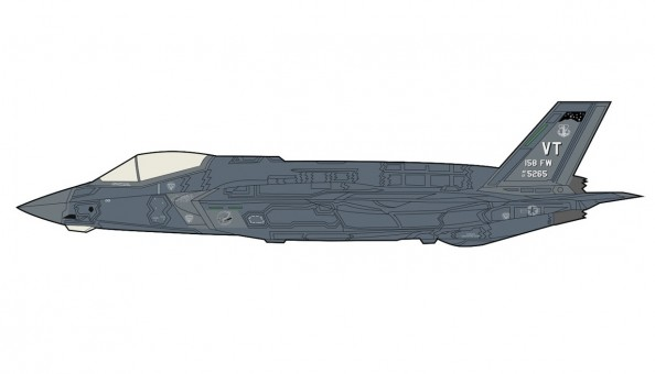 US F-35A Lightning 134th FS 158th FW Vermont Air Guard Sept 2019 HA4421 scale 1:72