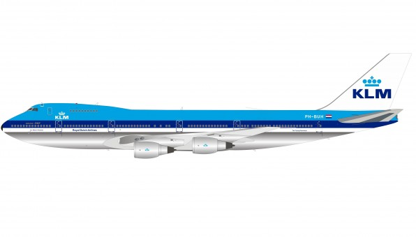 KLM Boeing 747-200 PH-BUH Polished with stand InFlight IF742KLM-100-1P Royal Dutch Airlines scale 1:200