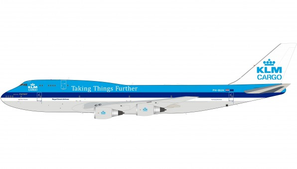 "KLM Cargo Boeing 747-200 PH-BUH ""Taking Things Further"" with stand InFlight IF742KLM-100-2 Royal Dutch Airlines scale 1:200"