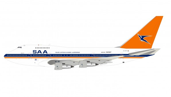 South African Boeing 747SP ZS-SPC with stand InfFight IF747SPSAA0820 scale 1:200