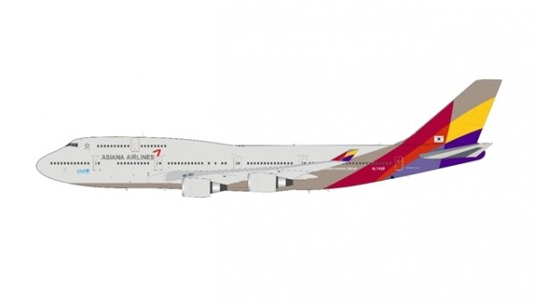 Asiana Airlines Boeing 747-48E HL7428 stand JFox/Inflight JF-747-4-049 scale 1:200