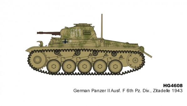 Panzer II Ausf 6th Pz Div Zitadelle 1943 Hobby Master HG4608 scale 1:72