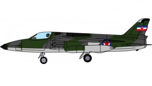 Yugoslav Air Force Folland Gnat F.1 die-cast Aviation 72 (Belgrade Aeronautical Museum) AV72-28005 scale 1:72