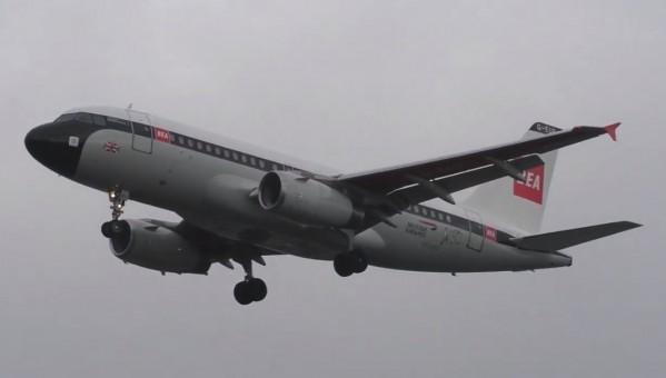 British Airways BEA Retro Airbus A319 G-EUPJ British 100 Years with gears SKR1021 Skymarks scale 1:150
