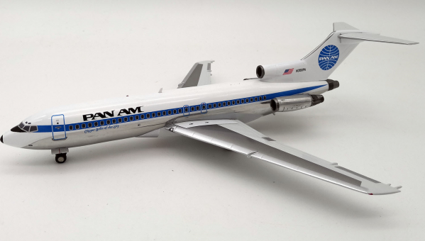 Pan Am Boeing 727-100 N356PA Clipper Belle of the Sky with stand IF721PA01 Inflight200 scale 1:200
