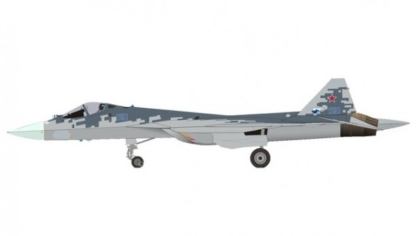 Prototype Sukhoi T-50 (SU-57) Pixel color scheme Сухой Су-57 570732 scale 1:200