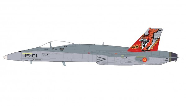 Spanish Air Force EF-18A ala 15 Fuerza Aerea Espanola Zaragoza HA3551 scale 1:72