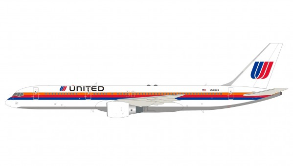 United Airlines Boeing 757-200 N546UA Saul Bass livery with stand InFlight IF752UA0321 scale 1:200