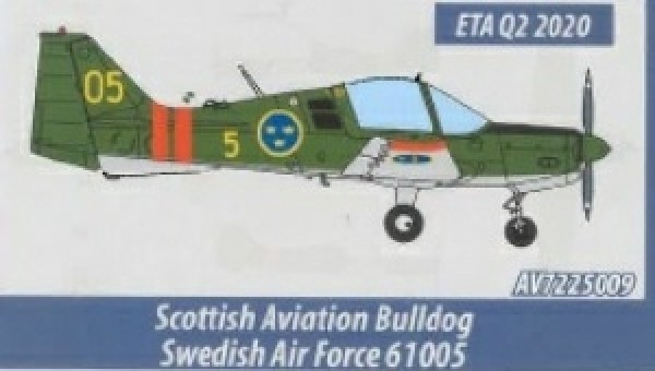 Swedish Air Force Scottish Aviation Sk 61 Bulldog by Aviation 72 AV72-25009 scale 1:72
